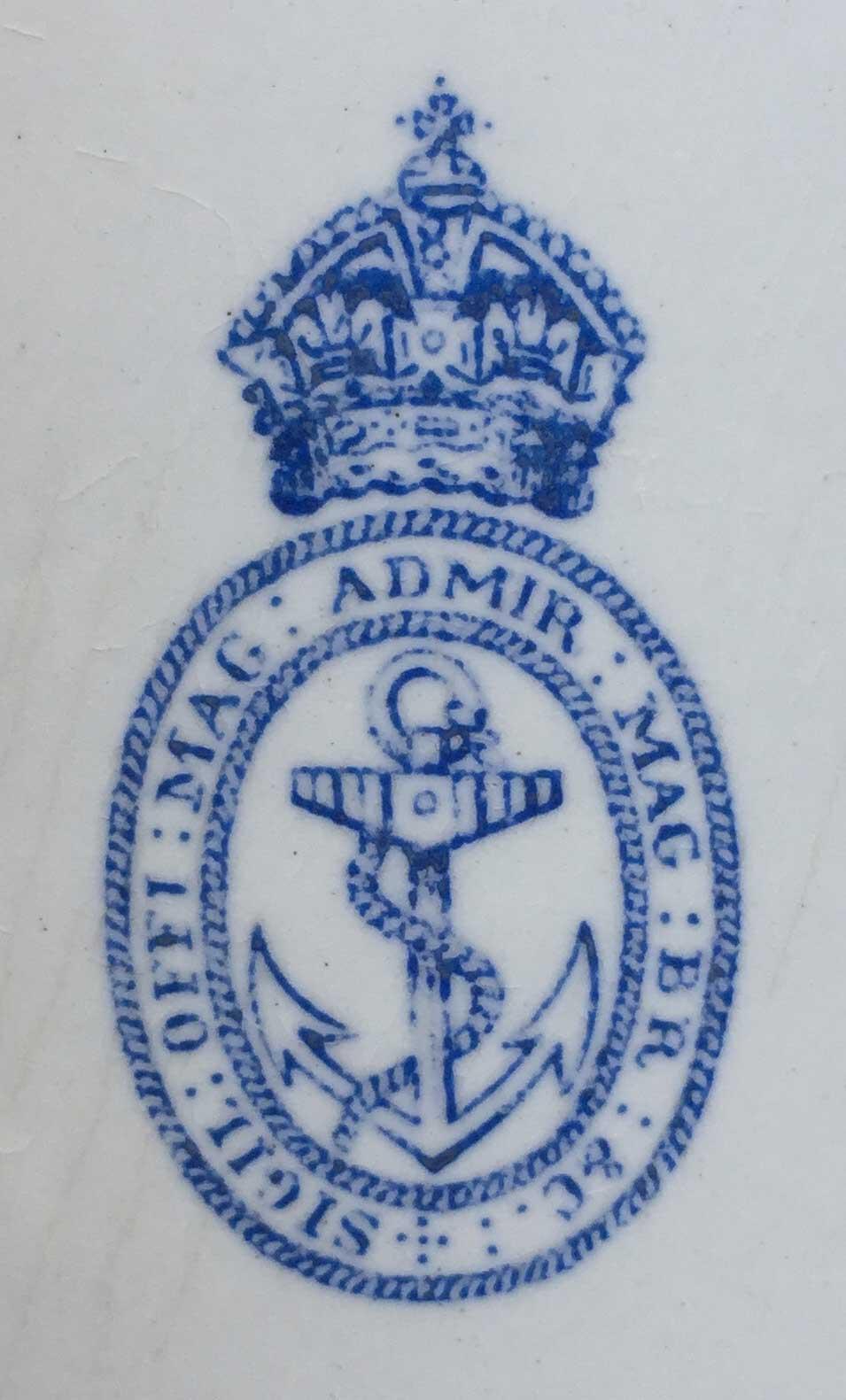 Admiralty emblem.